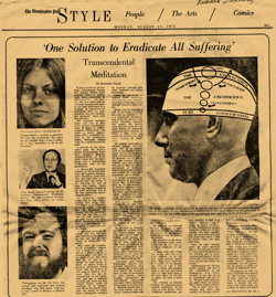 Washington Post TM Article 8/23/71 - page 1